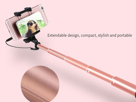 Monopod Benks Selfie Stick Magic Mirror złoty