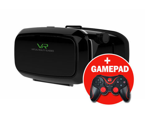 Okulary VR virtual reality glasses Oculus Cardboard + Gamepad