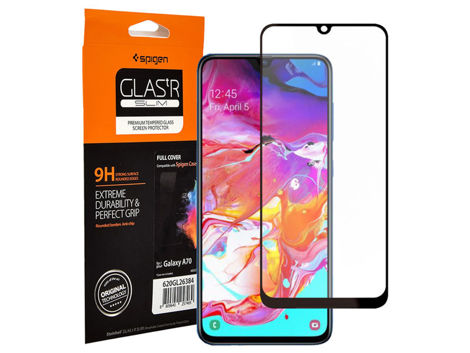 Szkło Spigen Glas.tR Slim HD do etui Samsung Galaxy A70 black